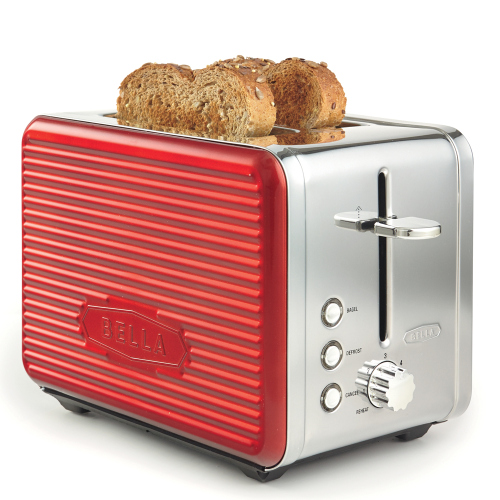 BELLA Linea Collection 2-Slice Toaster, Red