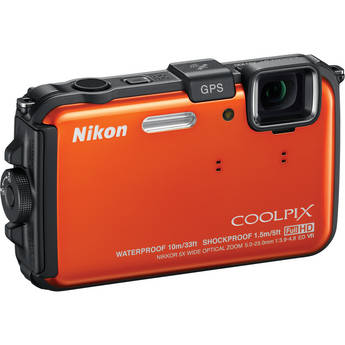 Nikon Coolpix AW100 Waterproof Digital Camera Kit 5