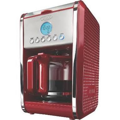 Bella Dots Collection Programmable 12-Cup Coffee Maker  Red