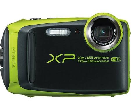 Fujifilm FinePix XP120 16.4 MP Compact Digital Camera - 1080p - Lime