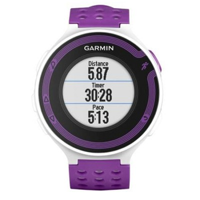 Garmin Forerunner 220 White & Violet GPS Running Watch with High-Resolution Color Display