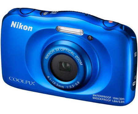 Nikon Coolpix W100 13.2 MP Compact Digital Camera - 1080p - Blue